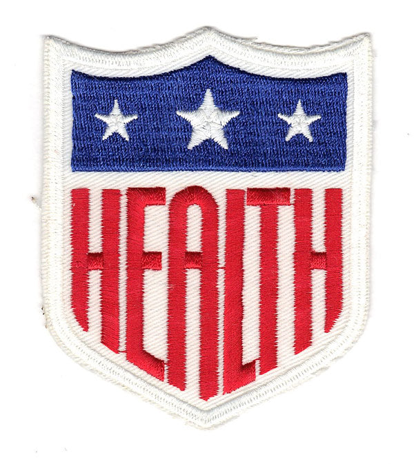 1942 Major League Baseball World War II 'Health' Shield Memorial Jersey Sleeve Patch