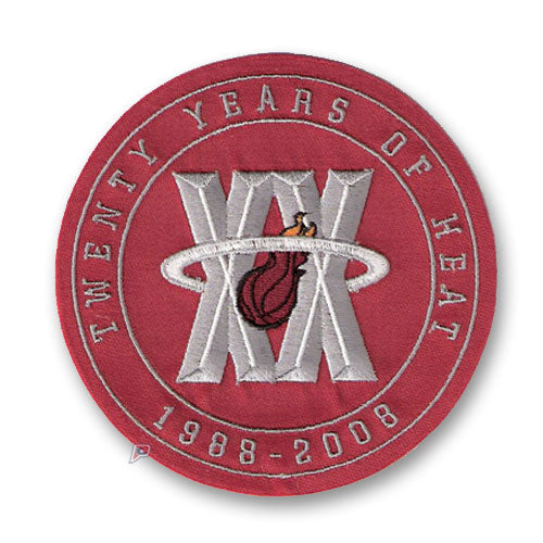Miami Heat 20th Anniversary Logo Patch Red (2007-08)