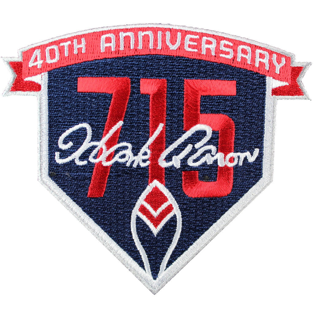 2014 Atlanta Braves Henry Hank Aaron's 715th Home Run 40th Anniversary Jersey Patch