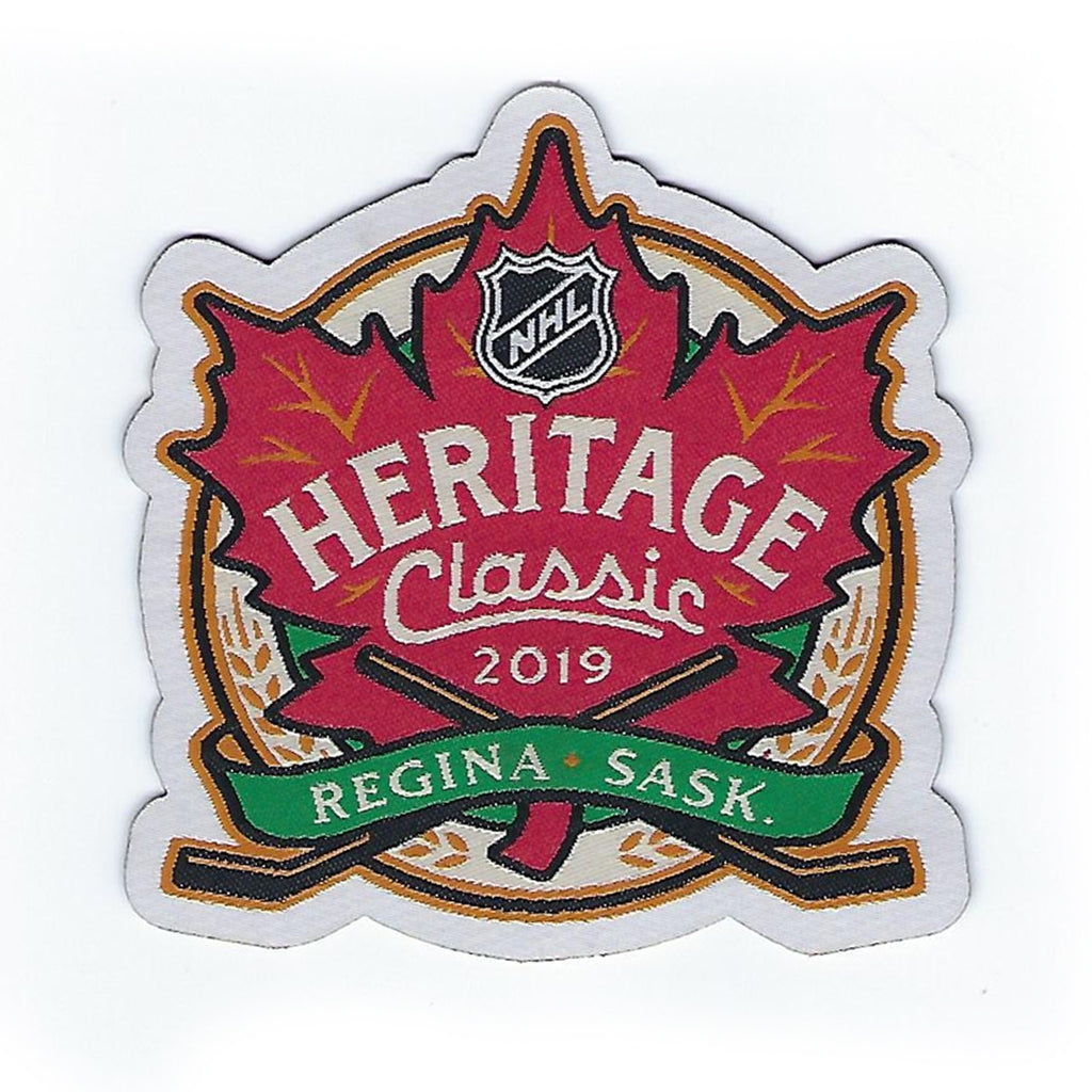 2019 NHL Heritage Classic Jersey Woven Patch Winnipeg Jets Calgary Flames (3 Inches)