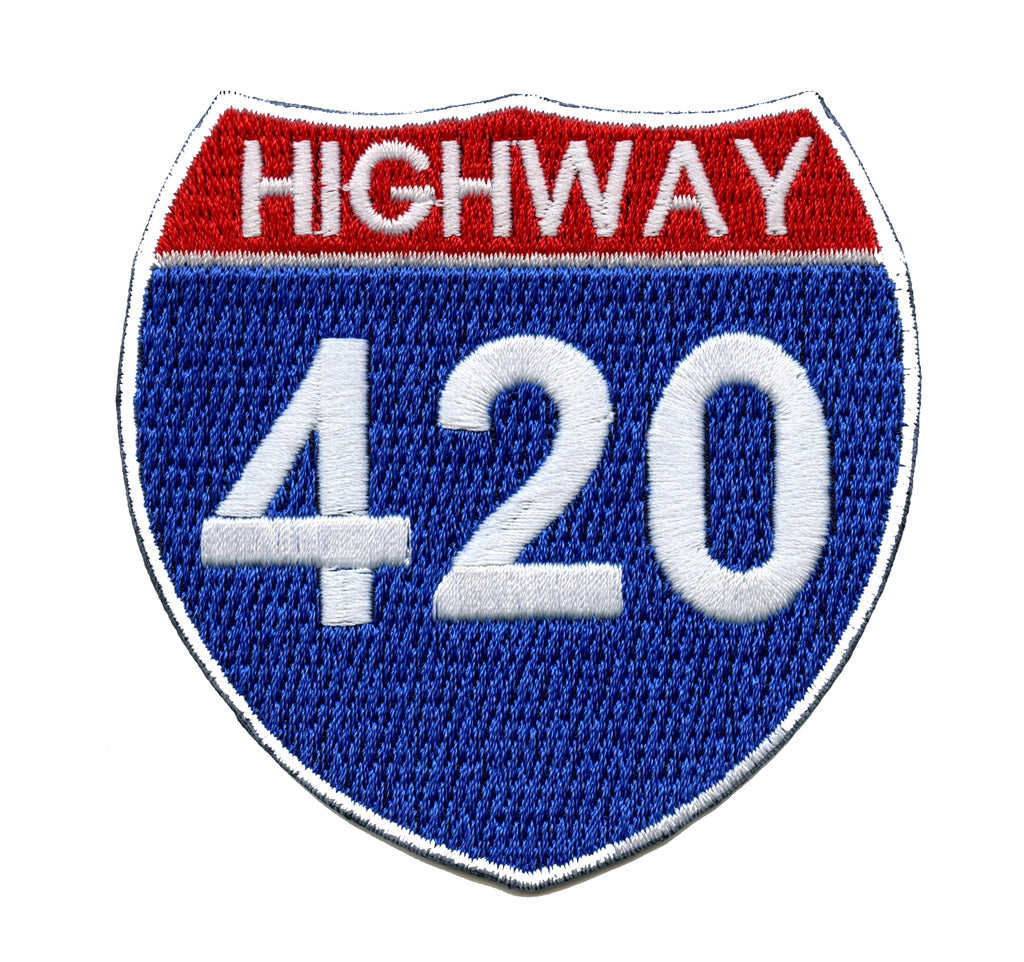 Hollyweed Highway 420 Embroidered Iron-on Patch