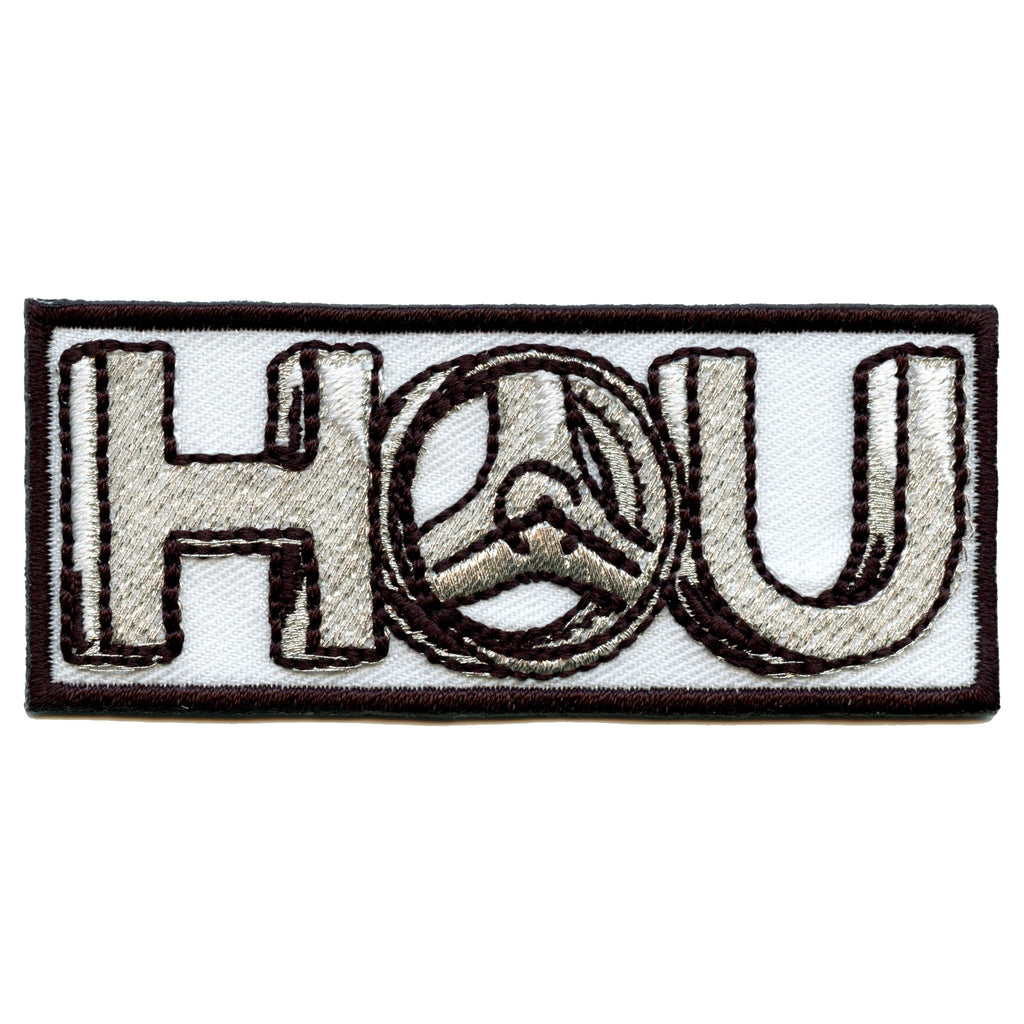Houston Blades Rim Logo Embroidered Iron On Patch