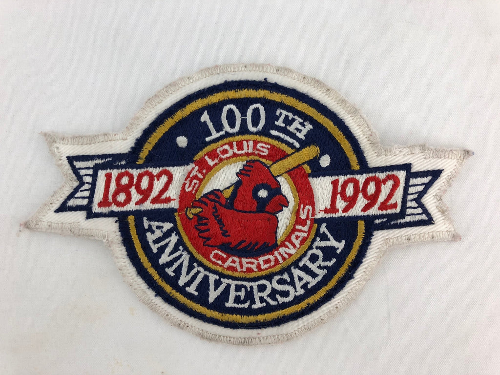 1992 St Louis Cardinals 100th Anniversary Logo Jersey Patch