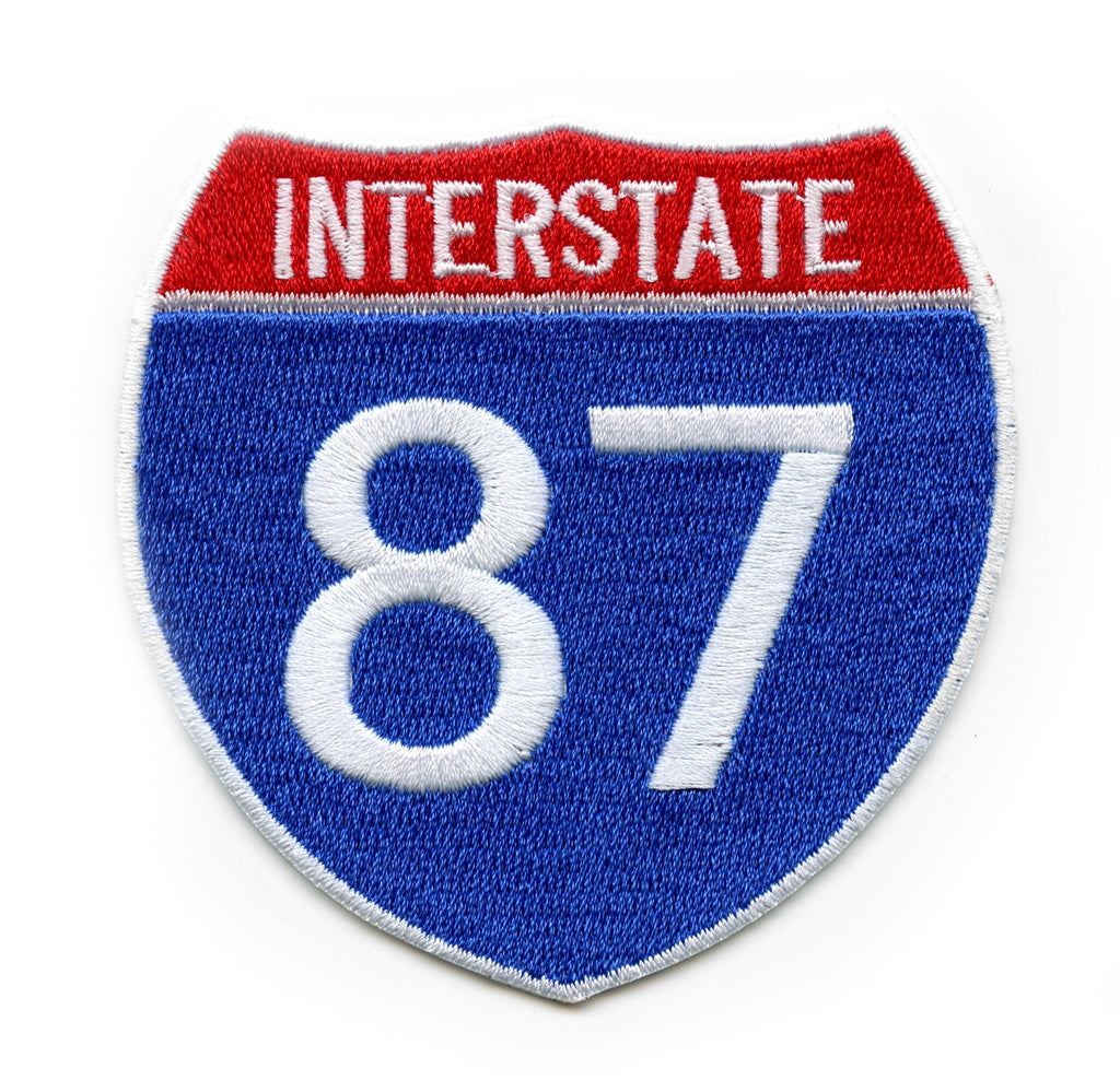 New York Freeway I-87 Sign Logo Embroidered Iron-on Patch