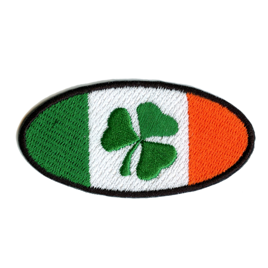 Irish Flag Green 3 Leaf Clover St. Patrick's Day Iron On Patch