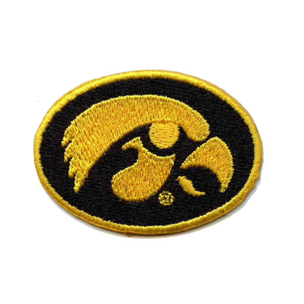 Iowa Hawkeyes Primary Round Logo Iron On Embroidered Patch (ALT) Small