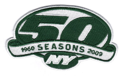 New York Jets 50th Anniversary Jersey Patch (2009)