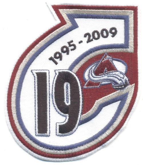 Colorado Avalanche Retirement Patch Joe Sakic #19