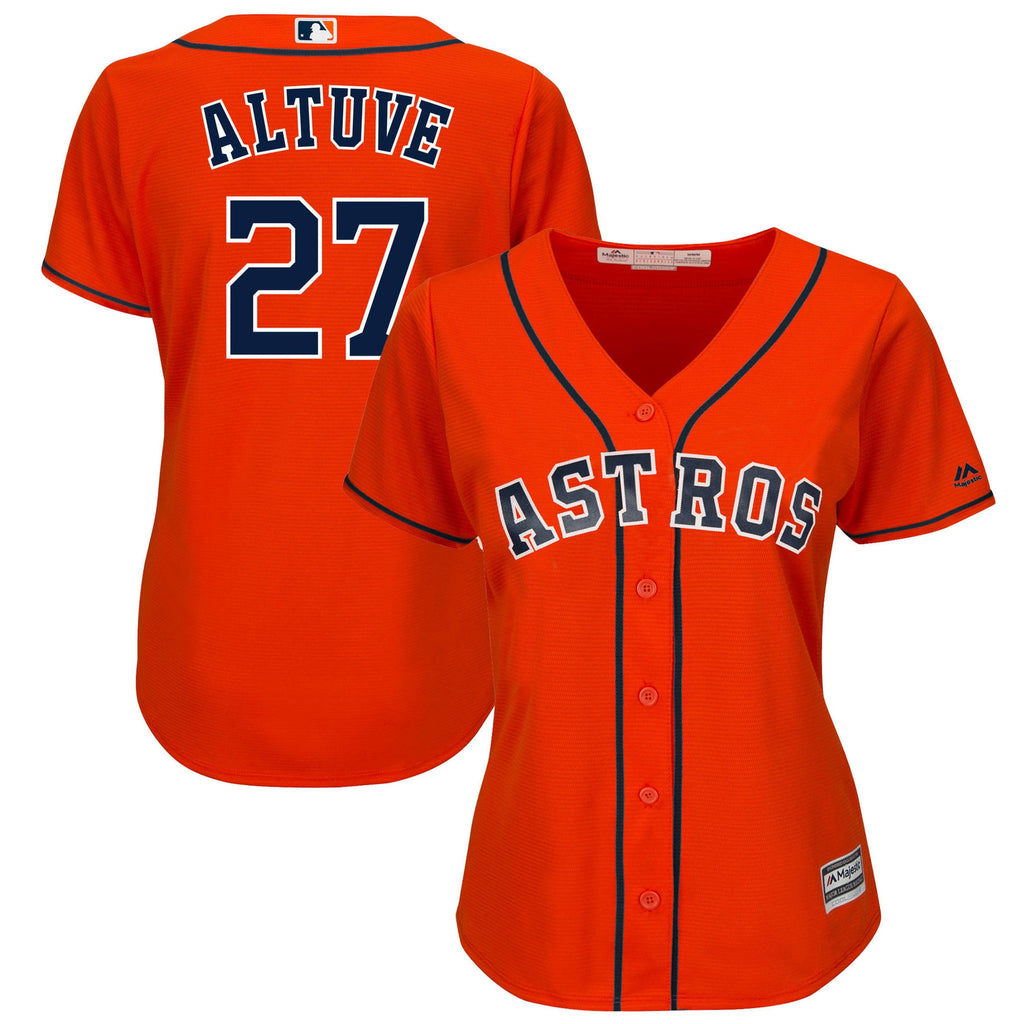 Women's Houston Astros Jose Altuve Majestic Orange Cool Base Replica Player Jersey