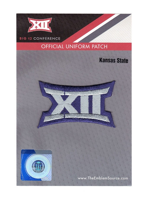 Big 12 XII Conference Team Jersey Uniform Patch Kansas State Wildcats
