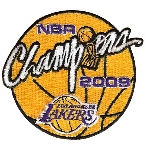2009 NBA Champions Patch Los Angeles Lakers