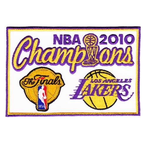 2010 NBA Champions Patch Los Angeles Lakers