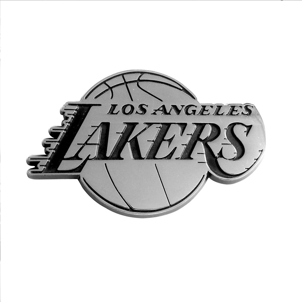 Los Angeles Lakers Auto Metal Emblem Chrome