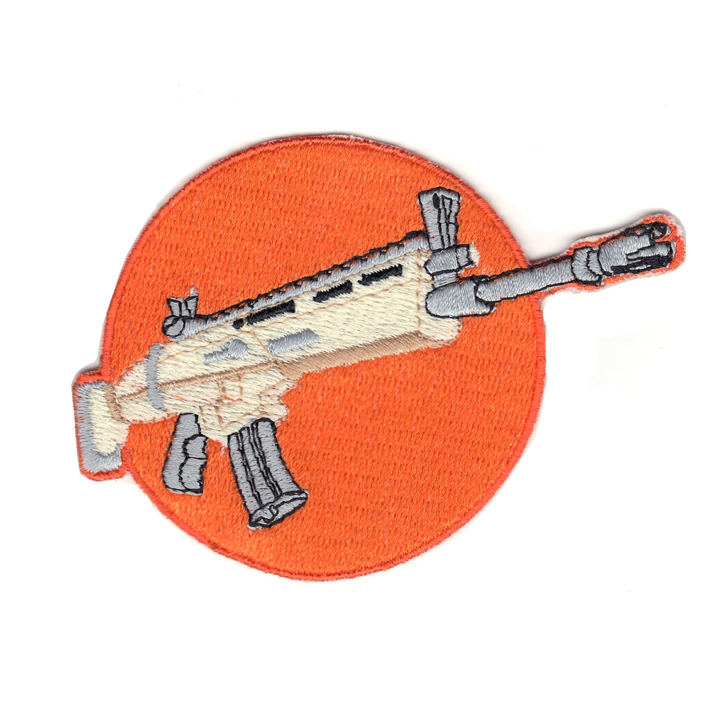 Battle Royal Legendary Assault Rifle Weapon Logo Embroidered Iron On Patch