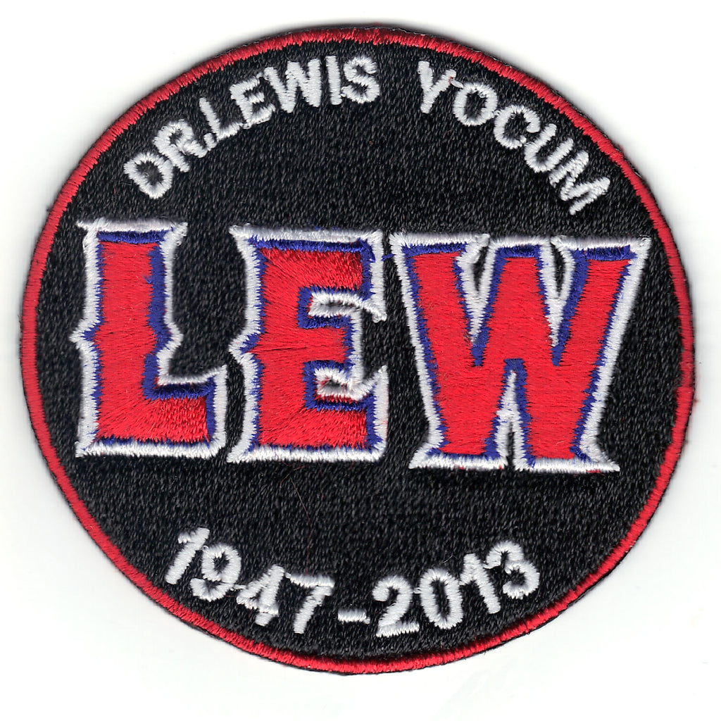 Dr. Lewis Yocum 'LEW' Los Angeles Angels Memorial Sleeve Jersey Patch (2013)