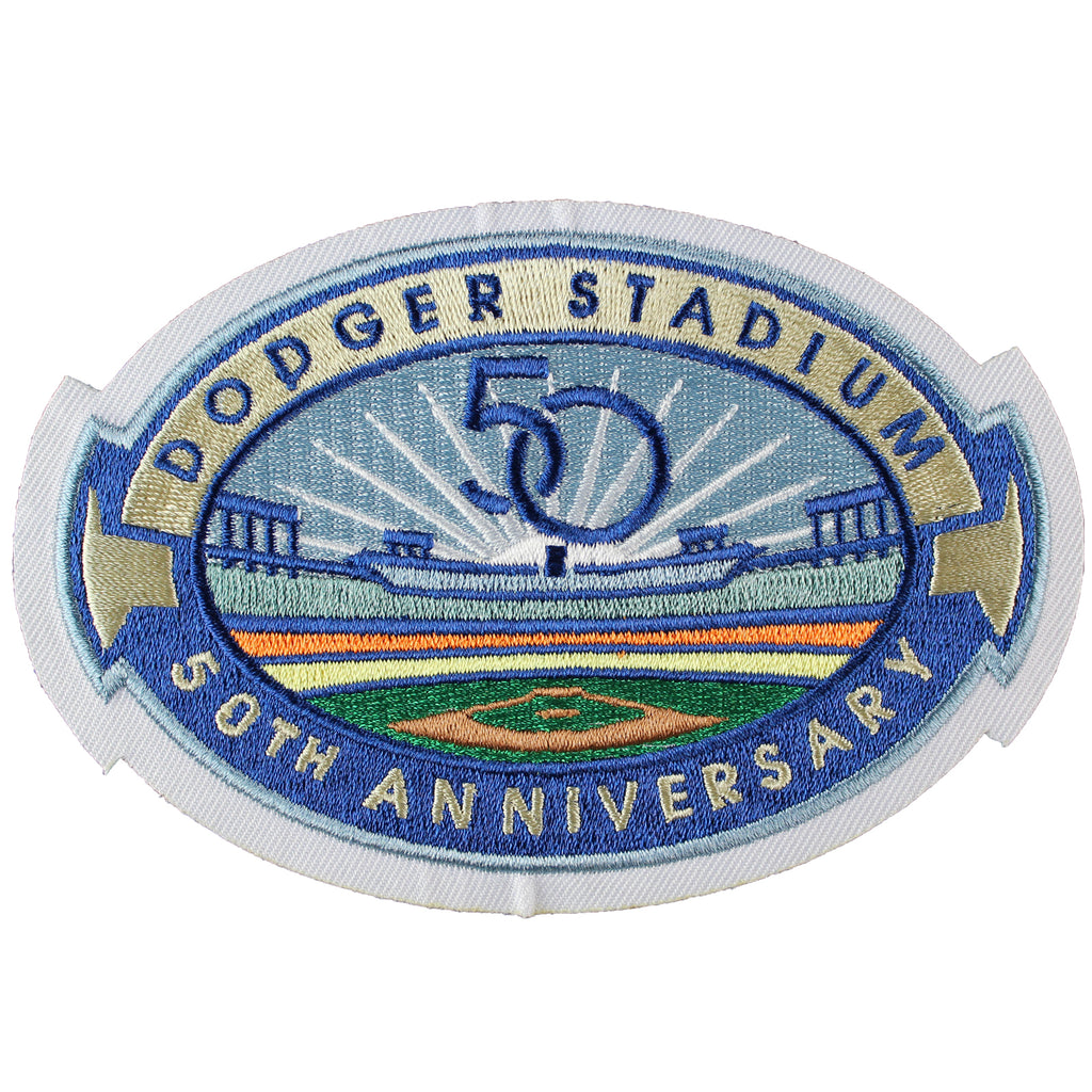2012 Los Angeles Dodgers 'Dodger Stadium 50th Anniversary' Season Jersey Sleeve Patch
