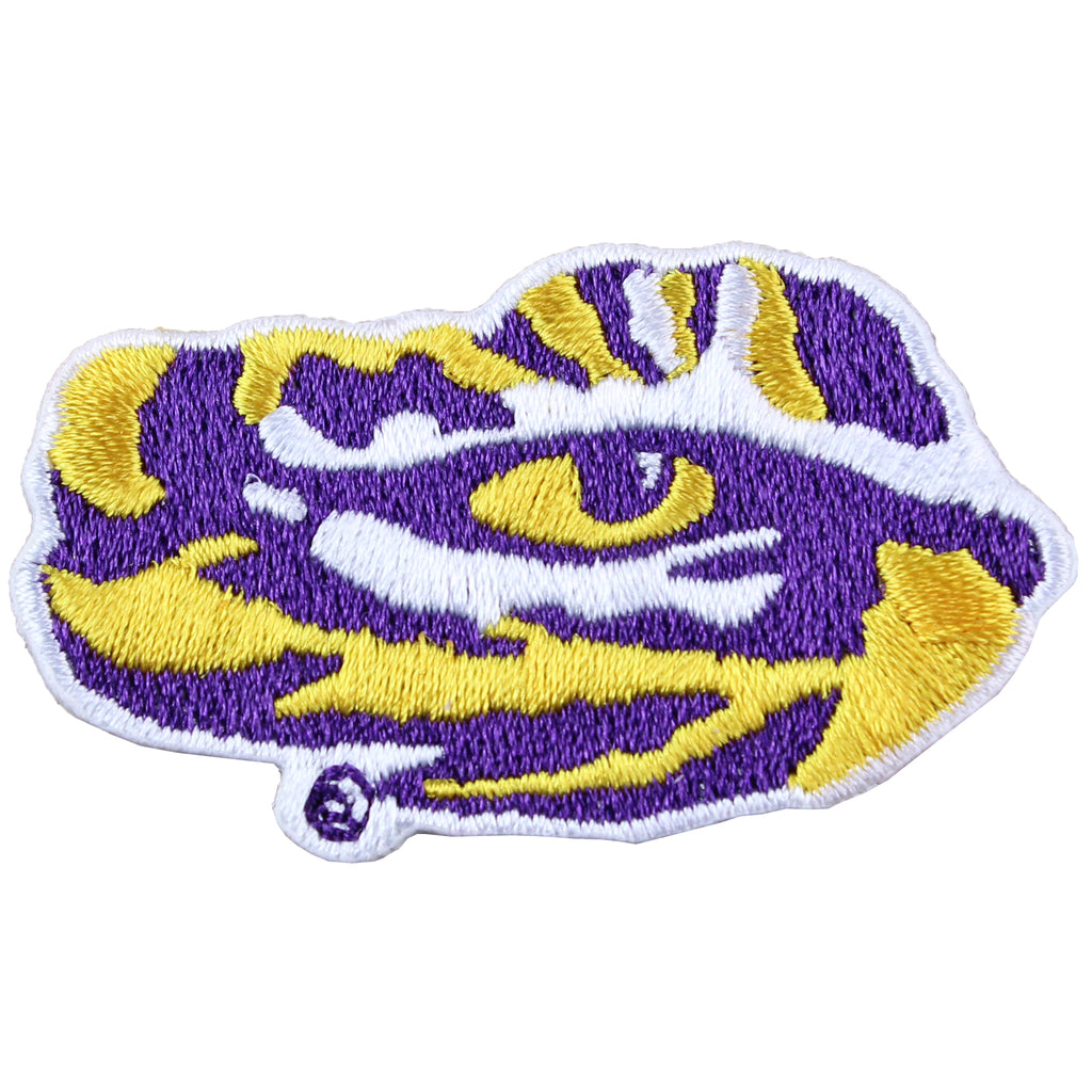 Louisiana State Tigers LSU Tiger Eye Logo Iron On Embroidered Patch