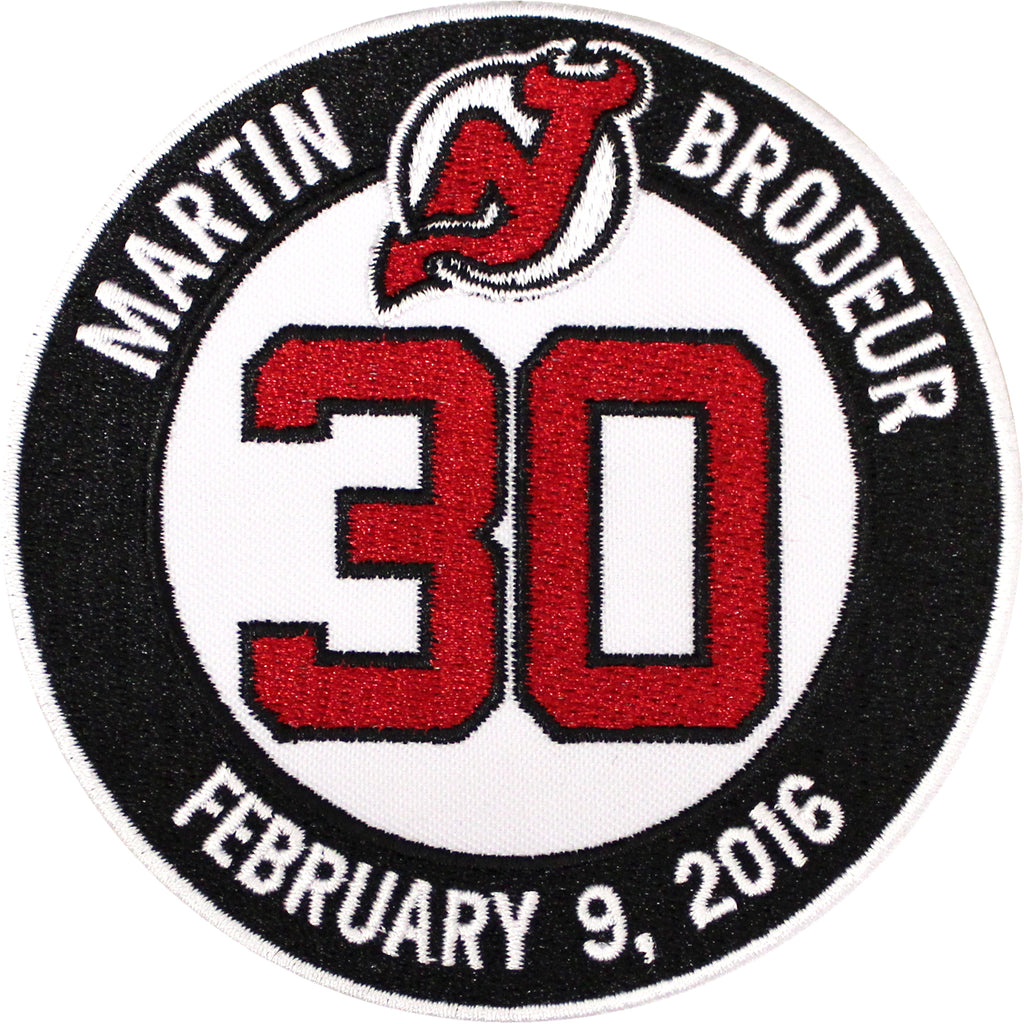 Martin Brodeur Retirement Ceremony New Jersey Devils Jersey #30 Patch (2016)