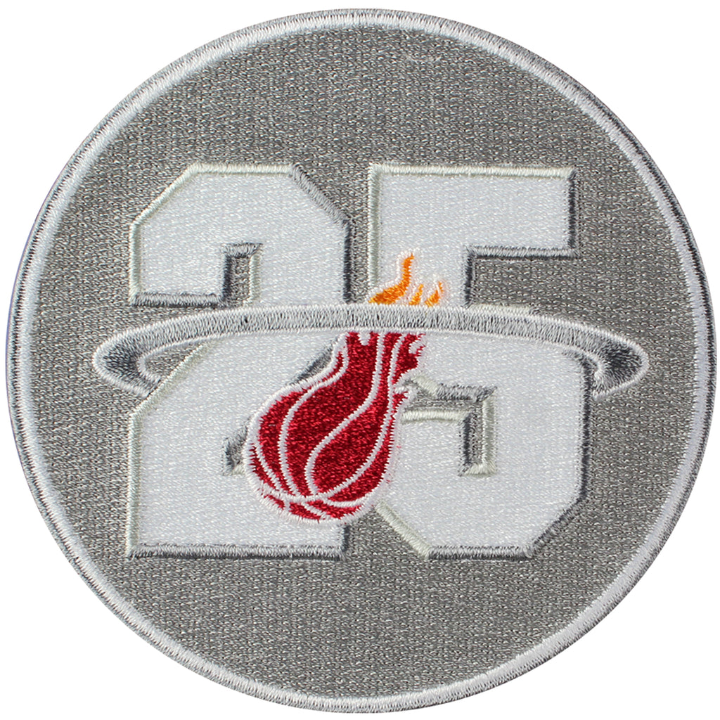 "Miami Heat 25th Anniversary Season Logo Jersey Patch 4"" Version (2012-13)"