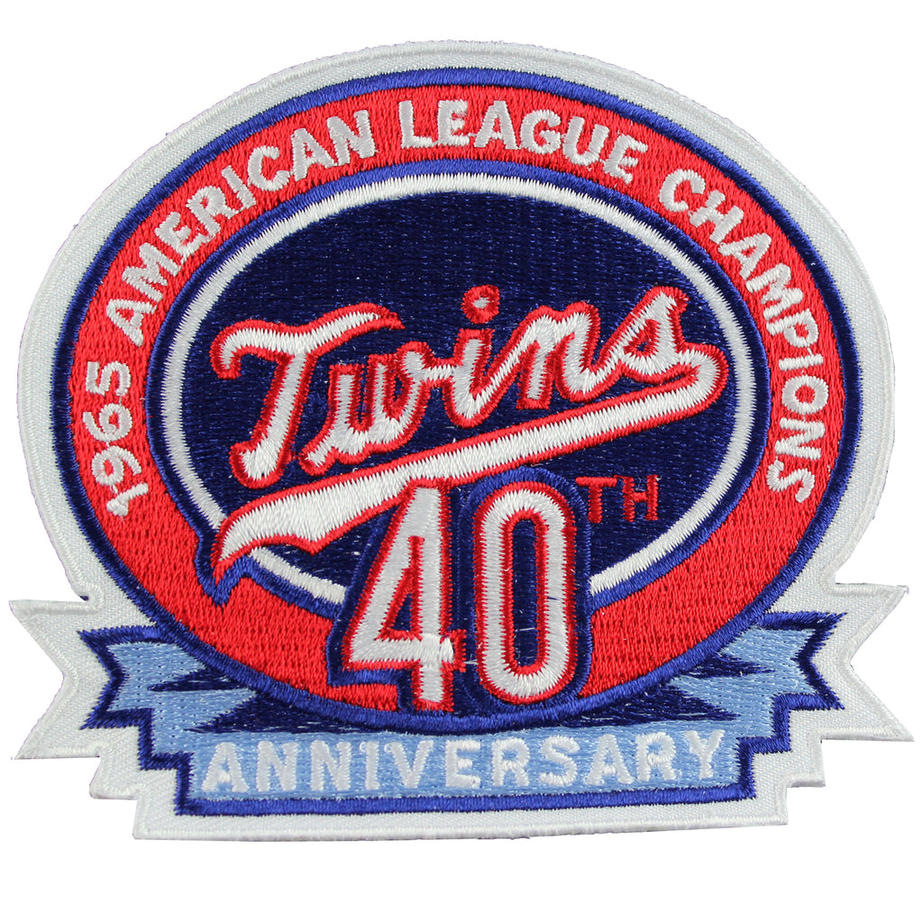 2006 Minnesota Twins 1965 40th Anniversary American League Champions Jersey Sleeve Patch