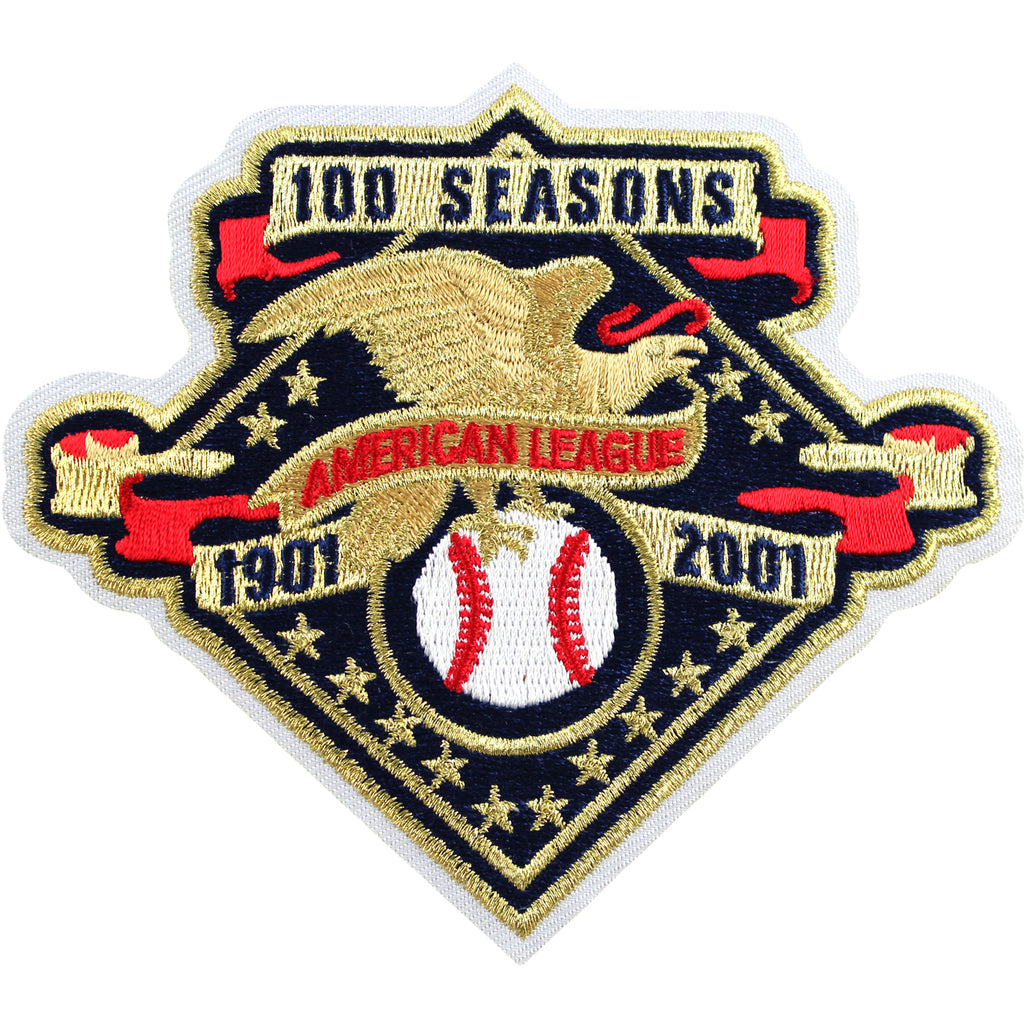 2001 MLB American League 100th Anniversary Jersey Sleeve Patch