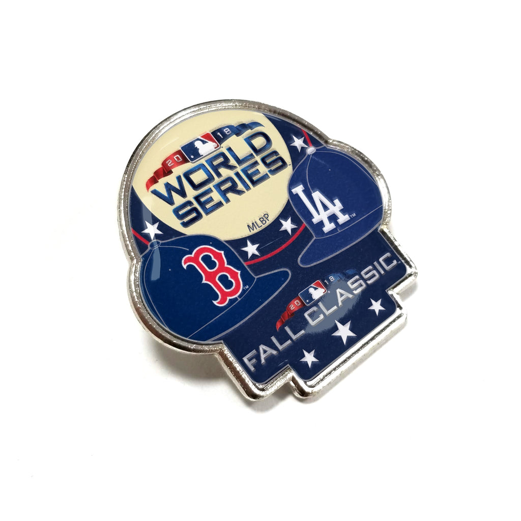 2018 MLB World Series Dueling Boston Red Sox Los Angeles Dodgers Pin (AMINCO)