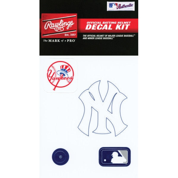 New York Yankees MLB Batting Helmet Decal Kit