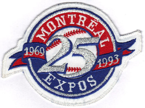 1993 Montreal Expos 25th Anniversary Logo Patch