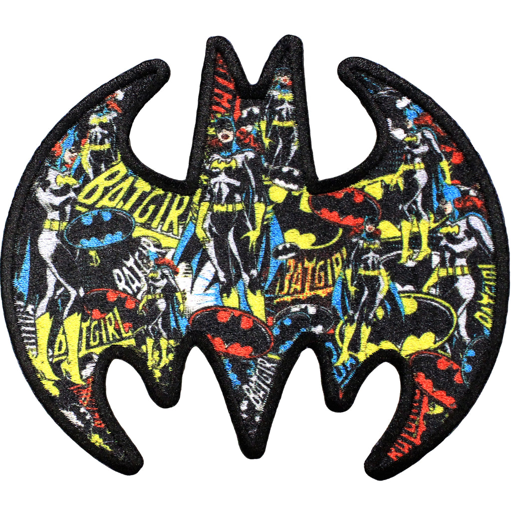DC Comics Batman Multi Batgirl logo iron on Applique Patch