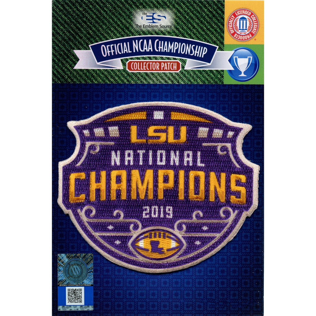 2019 College National Champions LSU Tigers Football Patch