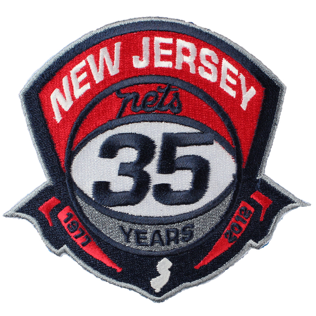 New Jersey Nets 35th Anniversary Logo Patch (2011-12)