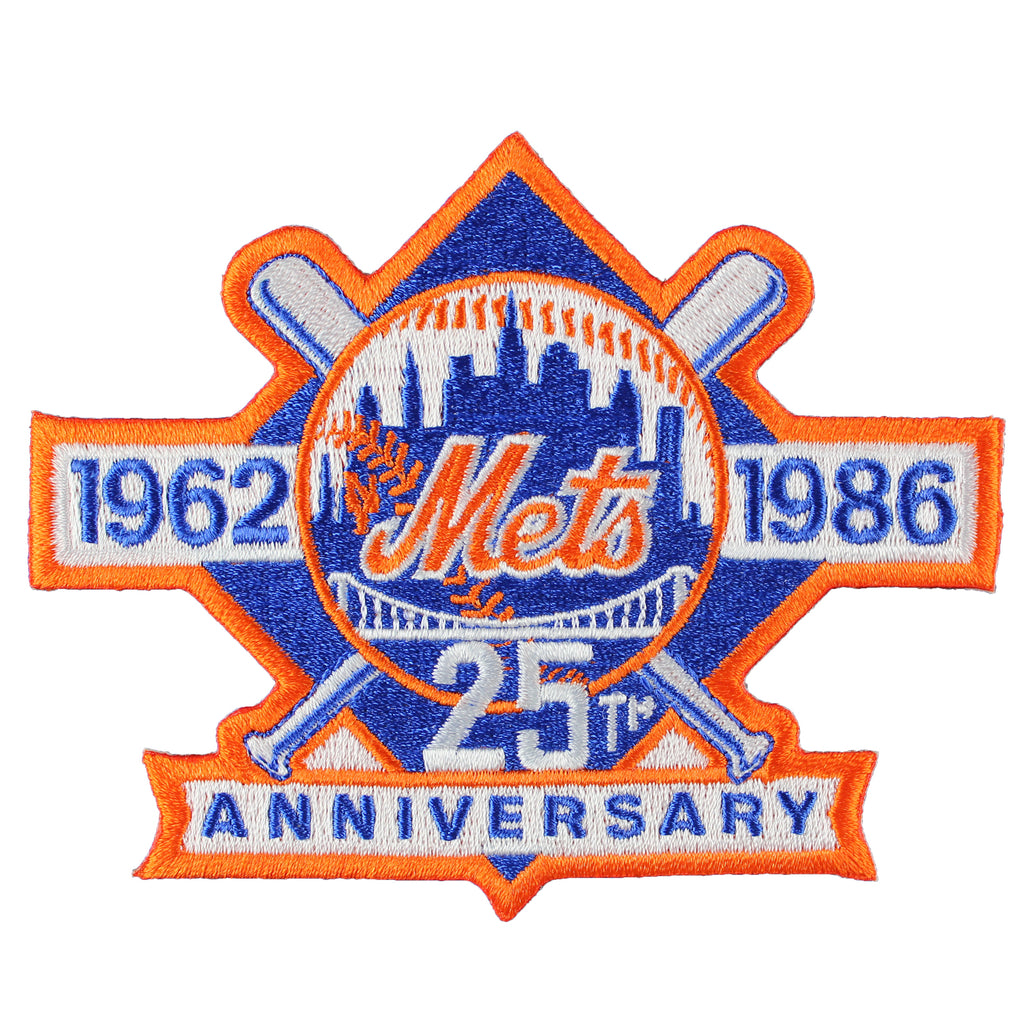 1986 New York Mets 25th Anniversary Jersey Sleeve Patch