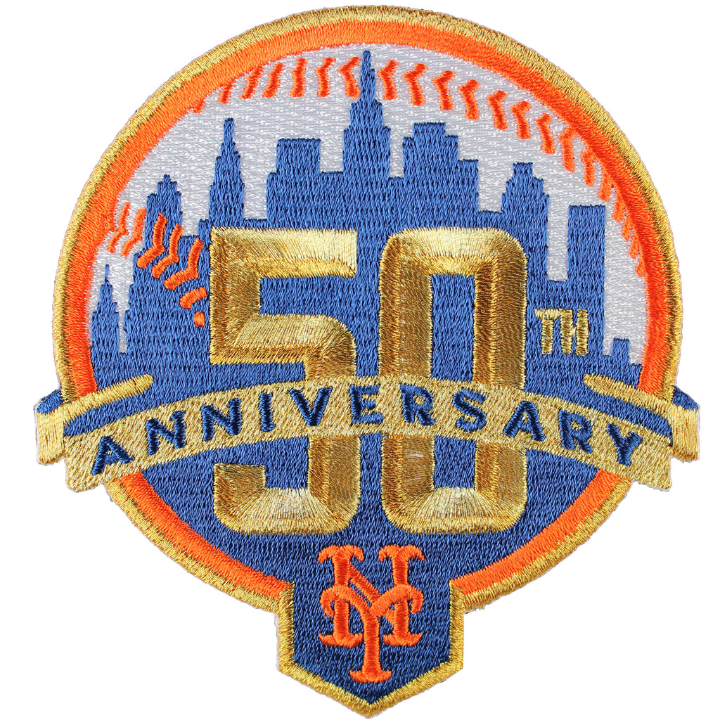 2012 New York Mets 50th Anniversary Jersey Sleeve Patch