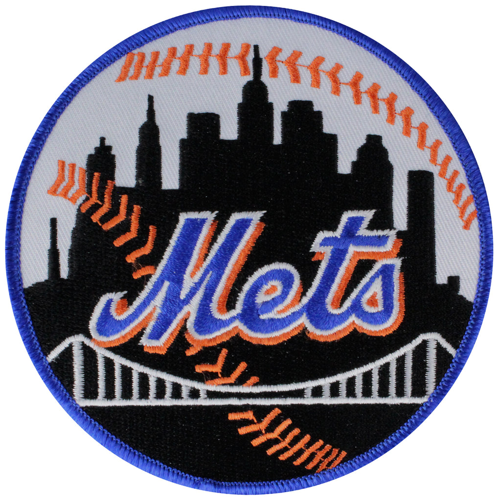 New York Mets Road Jersey Sleeve Patch (Blue Border)