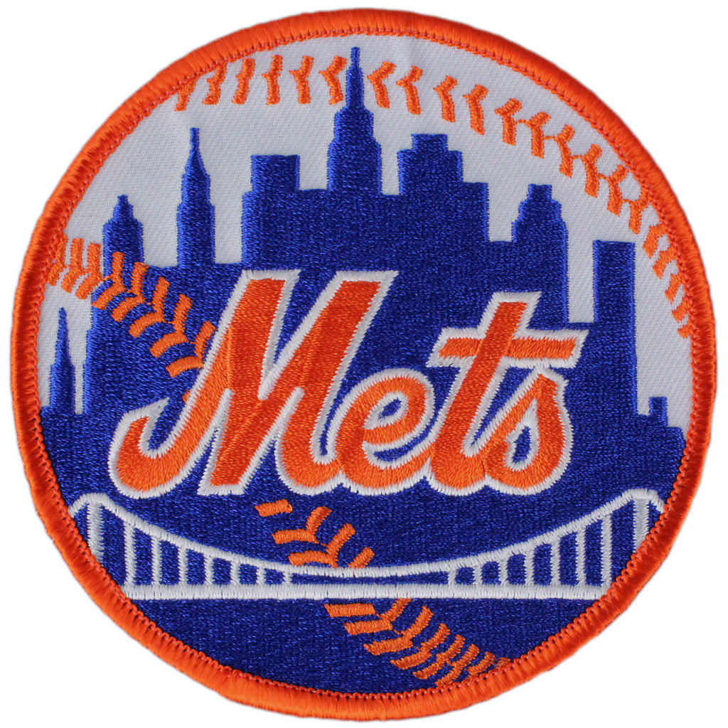 New York Mets Home Sleeve Patch (Orange Border)