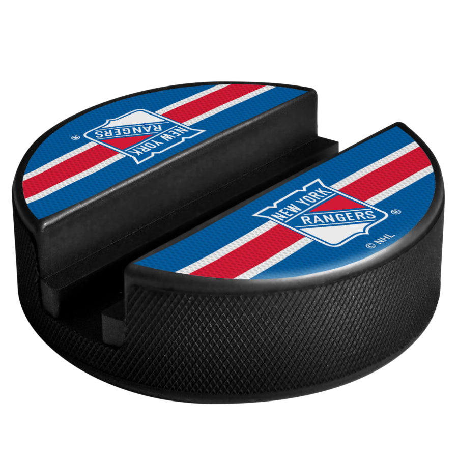 New York Rangers Phone Device Hockey Puck Holder