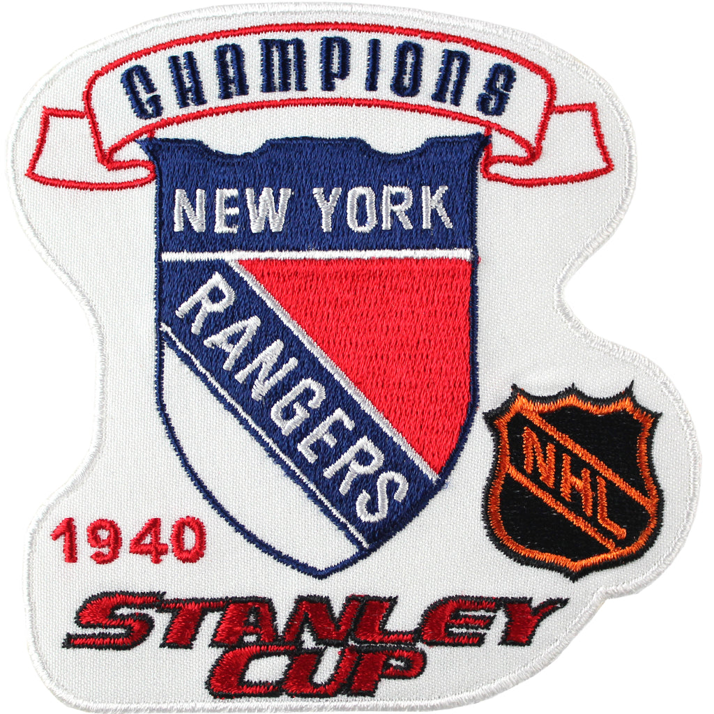 1940 NHL Stanley Cup Final Champions New York Rangers Patch