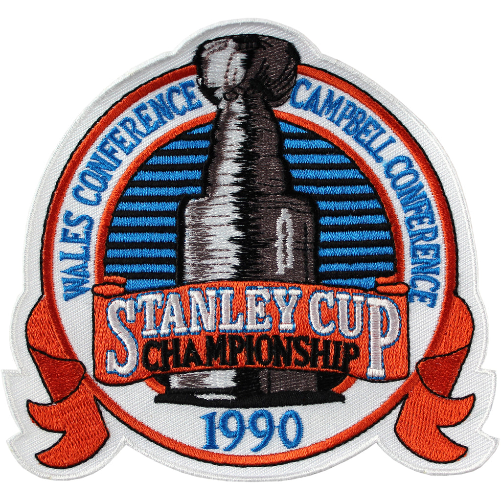 1990 NHL Stanley Cup Jersey Patch Edmonton Oilers vs. Boston Bruins