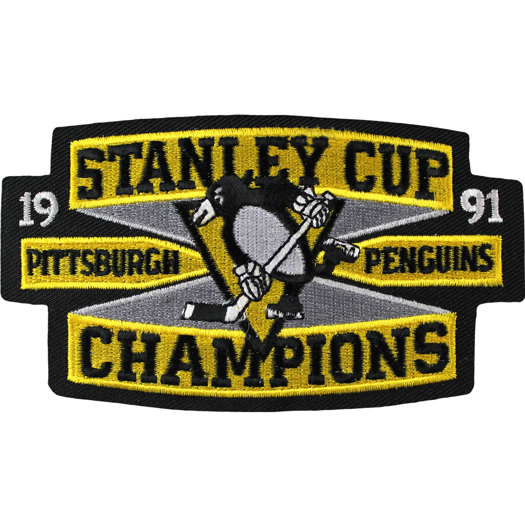 1991 NHL Stanley Cup Champions Jersey Patch Pittsburgh Penguins