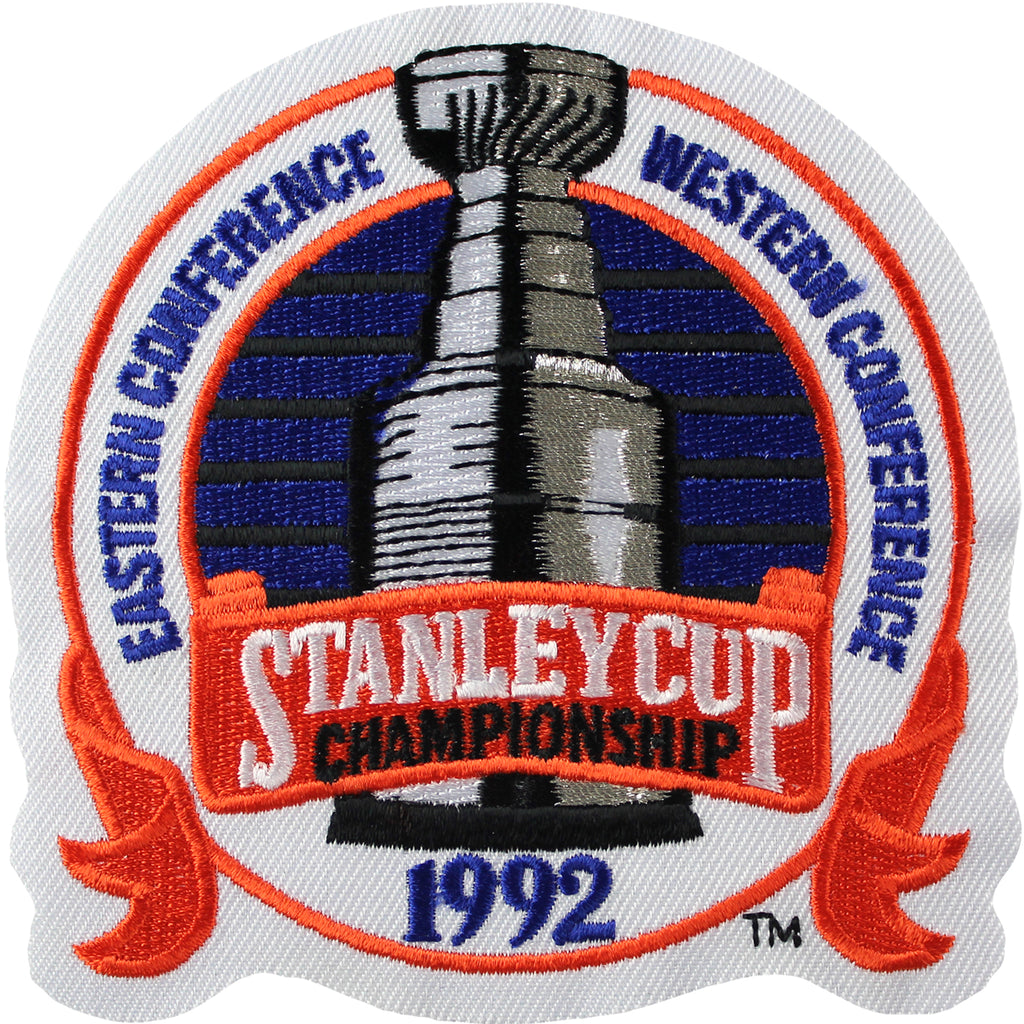 1992 NHL Stanley Cup Final Jersey Patch Pittsburgh Penguins vs. Chicago Blackhawks