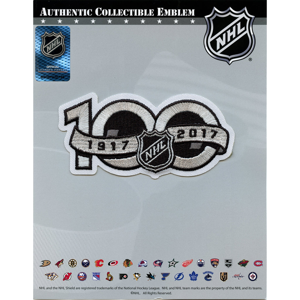 National Hockey League NHL 100th Centennial Season 1917 - 2017 Jersey Patch