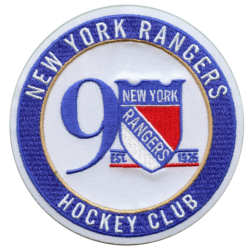 2017 Official New York Rangers 90th Anniversary Jersey Patch