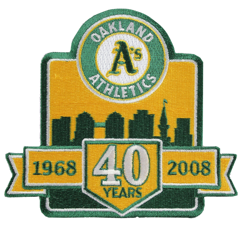 2008 Oakland A's Athletics 40th Anniversary Patch