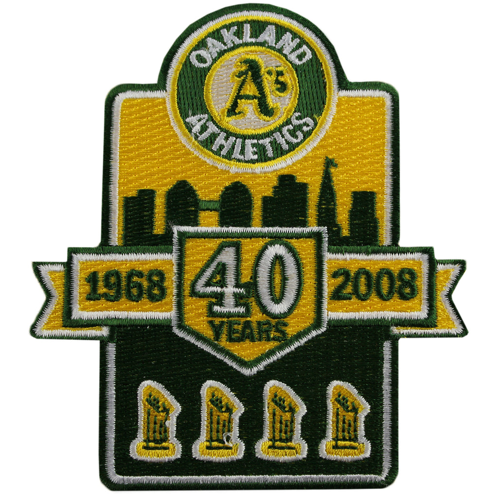 2008 Oakland A's Athletics 40 Years Patch (Trophy)