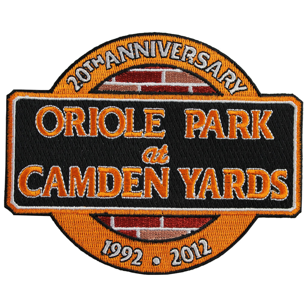 "2012 Baltimore Orioles ""Oriole Park at Camden Yards"" 20th Anniversary Patch"