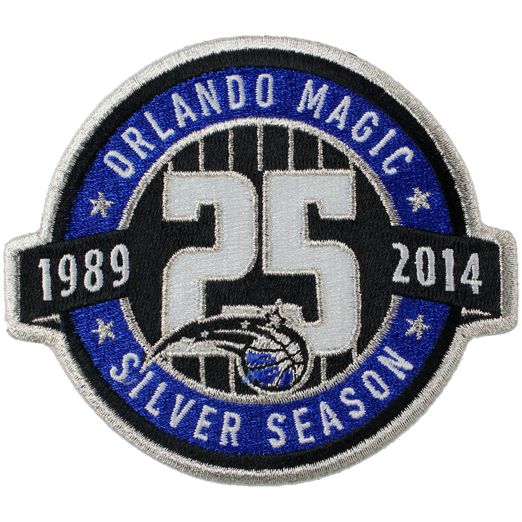 Orlando Magics 25th Anniversary Logo Patch (2013-14)
