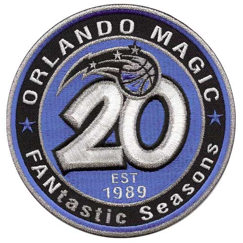 Orlando Magic 20th Anniversary Logo Patch (2008-09)