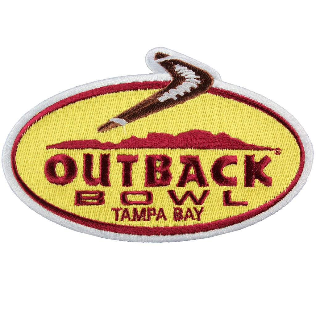 Outback Bowl Game Jersey Patch in Tampa Bay Iowa Hawkeyes Vs Florida Gators 2017