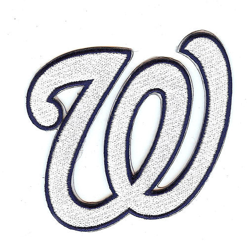 2009 Washington Nationals W Letter Logo Jersey Patch