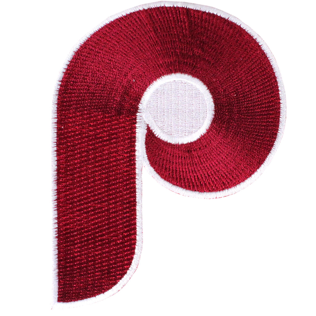 Philadelphia Phillies 'P' Wordmark Team Logo Patch (1973-1986)